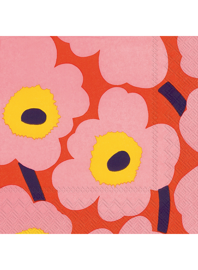 Cocktail Napkin - Marimekko Unikko Rose/Orange