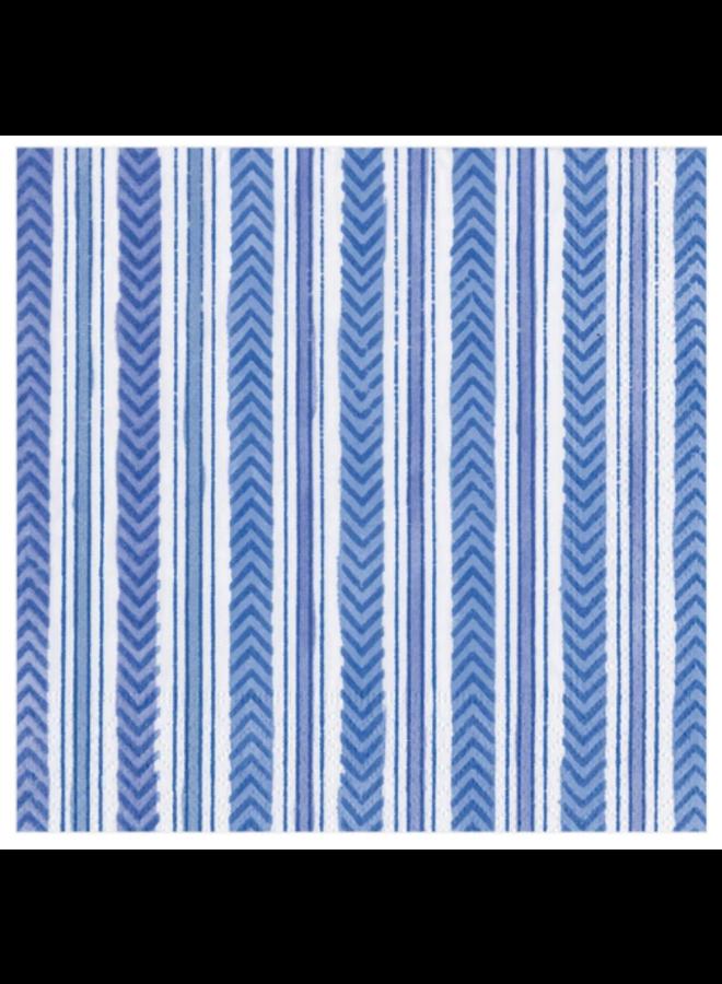 Cocktail Napkin - Carmen Stripe Blue