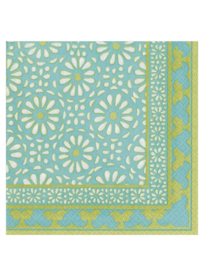 Cocktail Napkin - Alhambra Turquoise