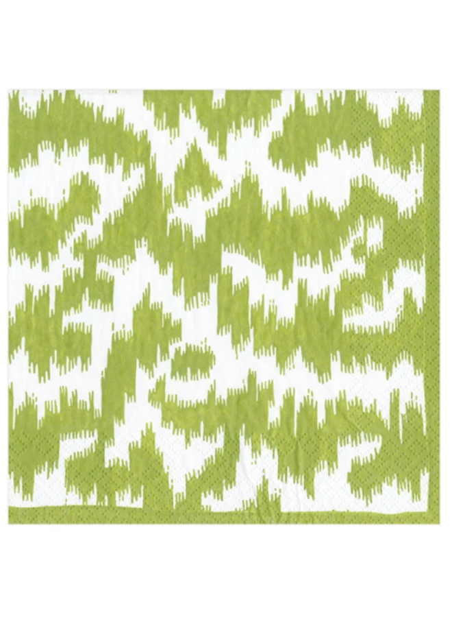 Cocktail Napkin - Modern Moire Green