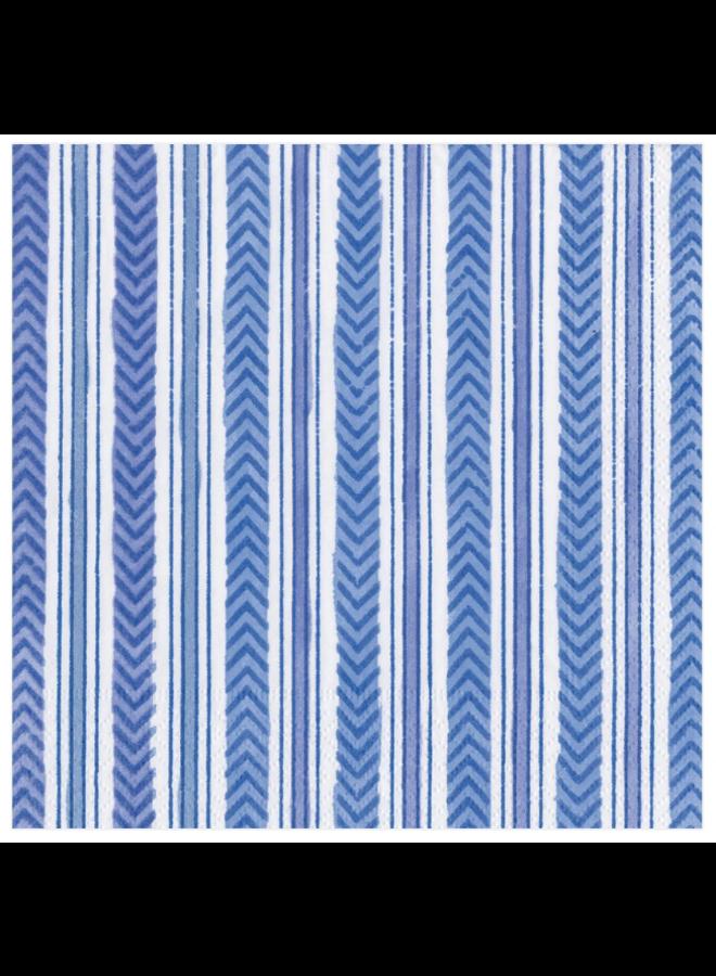 Luncheon Napkin - Carmen Stripe Blue