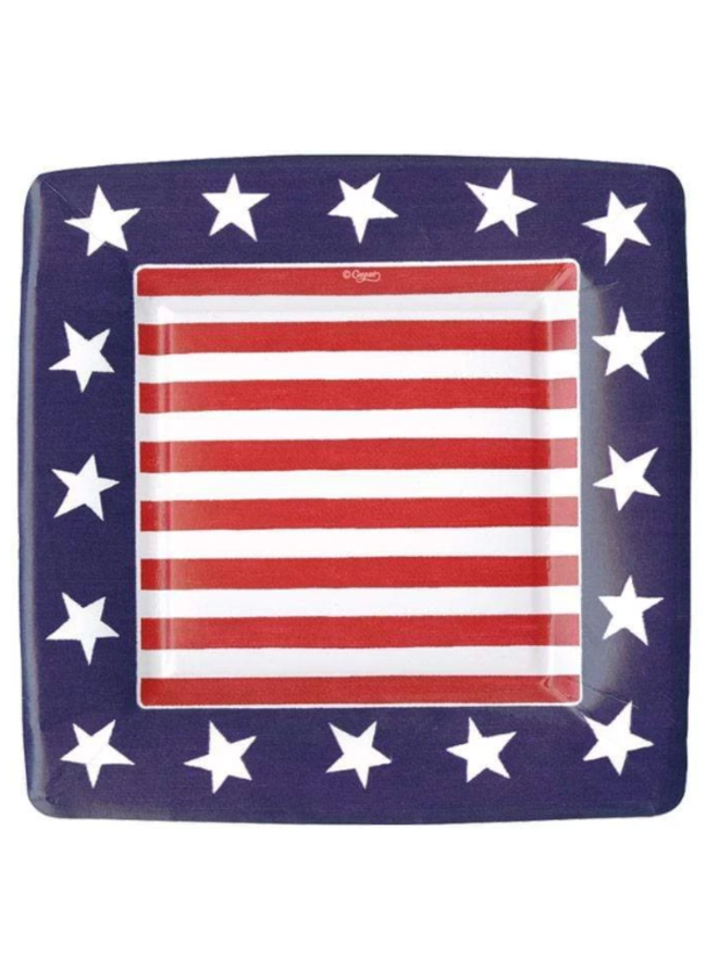 Salad Plate - Red, White & Blue