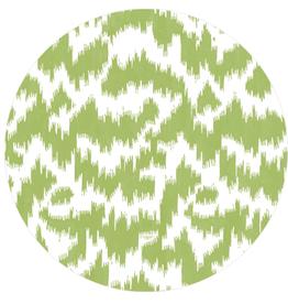 Caspari Salad Plate - Modern Moire Green