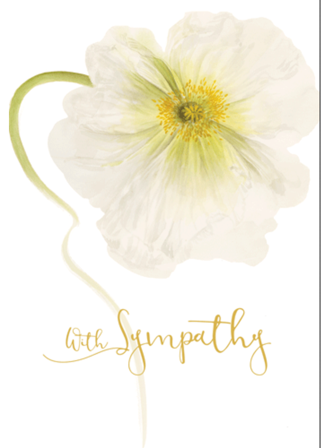 Greeting Card - White Poppy Sympathy