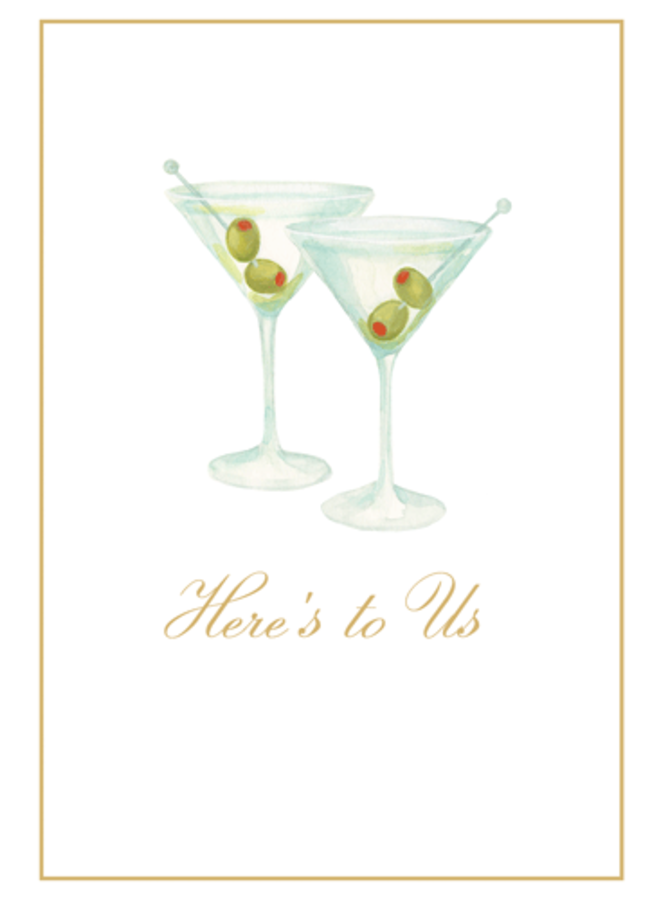 Greeting Card - Martinis