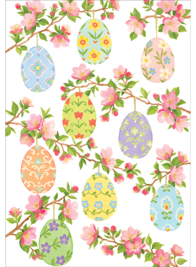 Greeting Card - Eggs & Blossoms