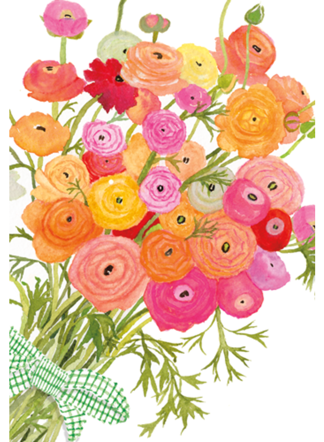 Greeting Card - Ranunculus Bouquet
