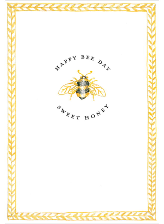 Greeting Card - Happy Bee Day
