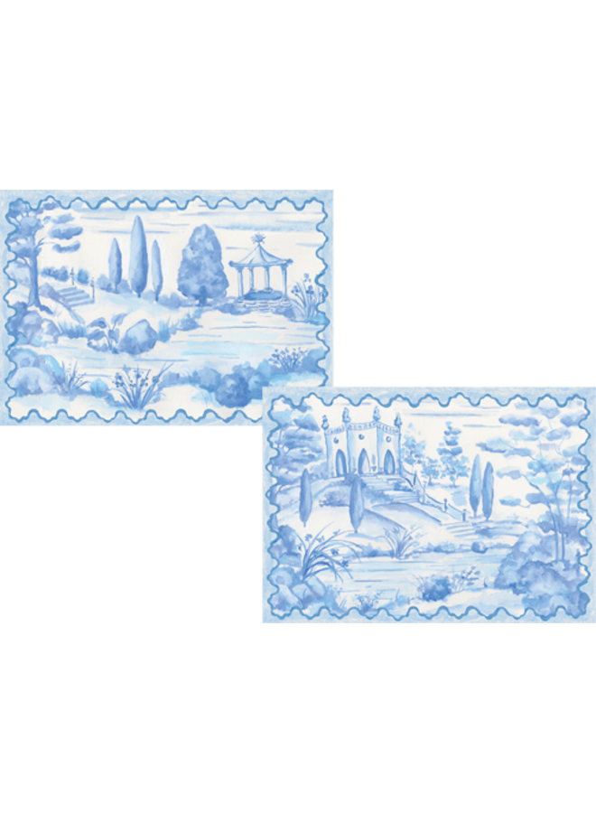 Note Cards - Tuscan Toile - Assorted
