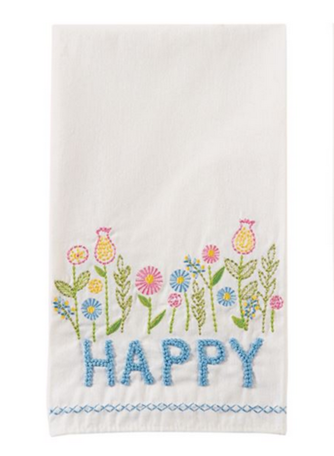 Embroidered Spring Towel