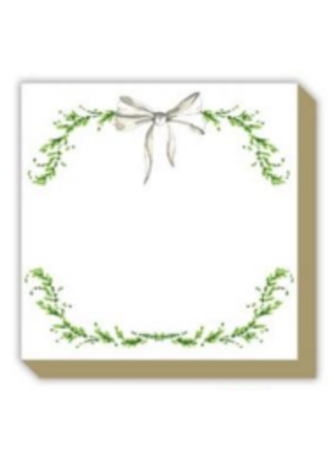 Mini Luxe Pad - Floral Wreath & Bow