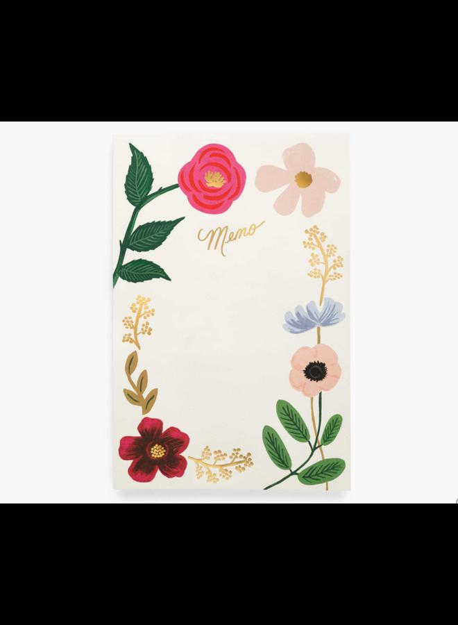 Wildflowers Large Memo Notepad