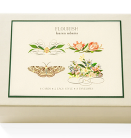 Karen Adams Note Card Box - Flourish