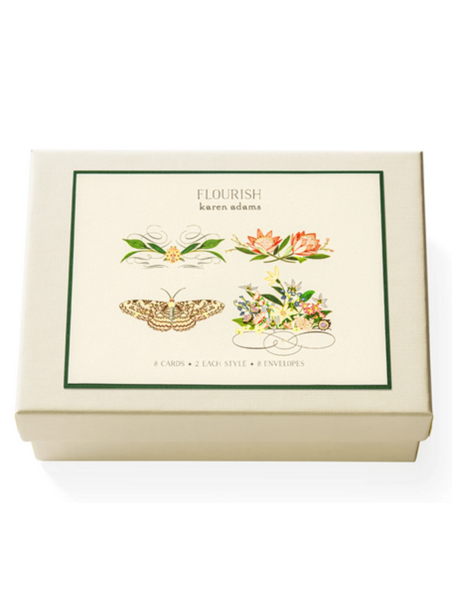 Note Card Box - Flourish