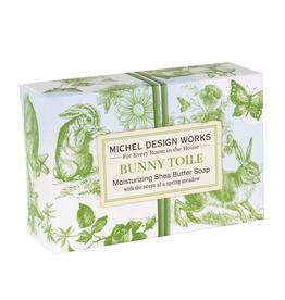 Michel Boxed Soap Bunny Toile