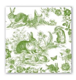 Michel Luncheon Napkin Bunny Toile