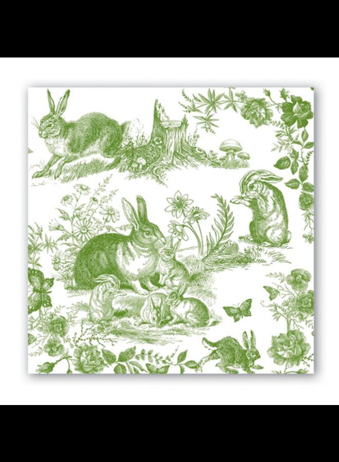 Luncheon Napkin Bunny Toile