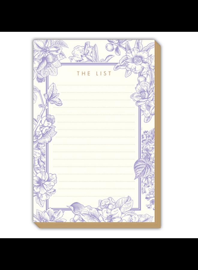 Tablet - List Lavender Floral