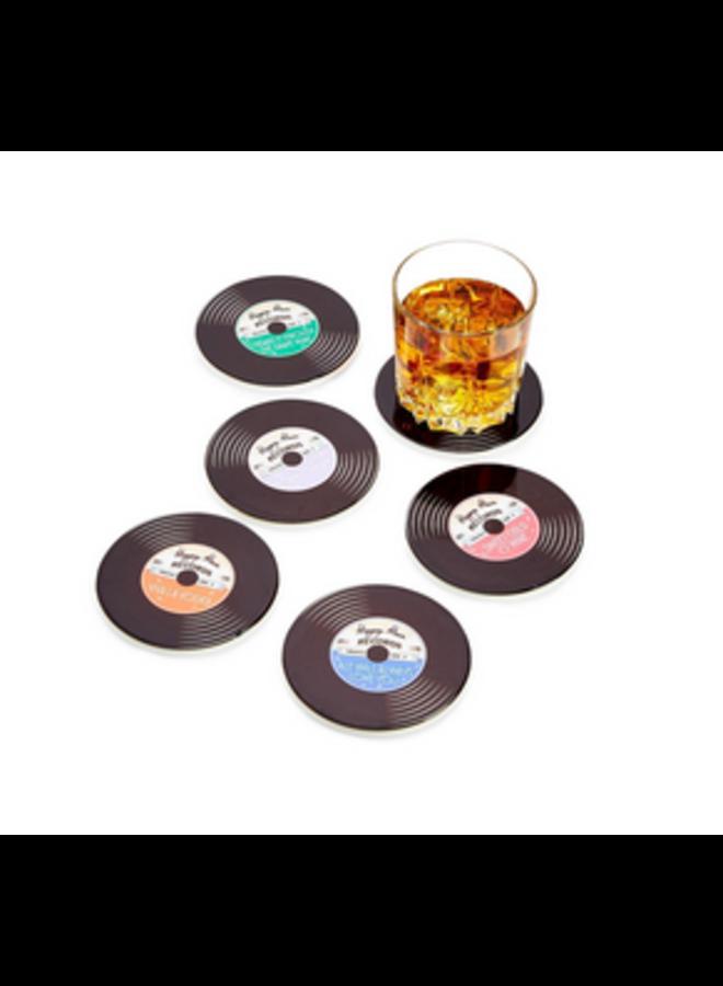 Record Ceramic Coaster