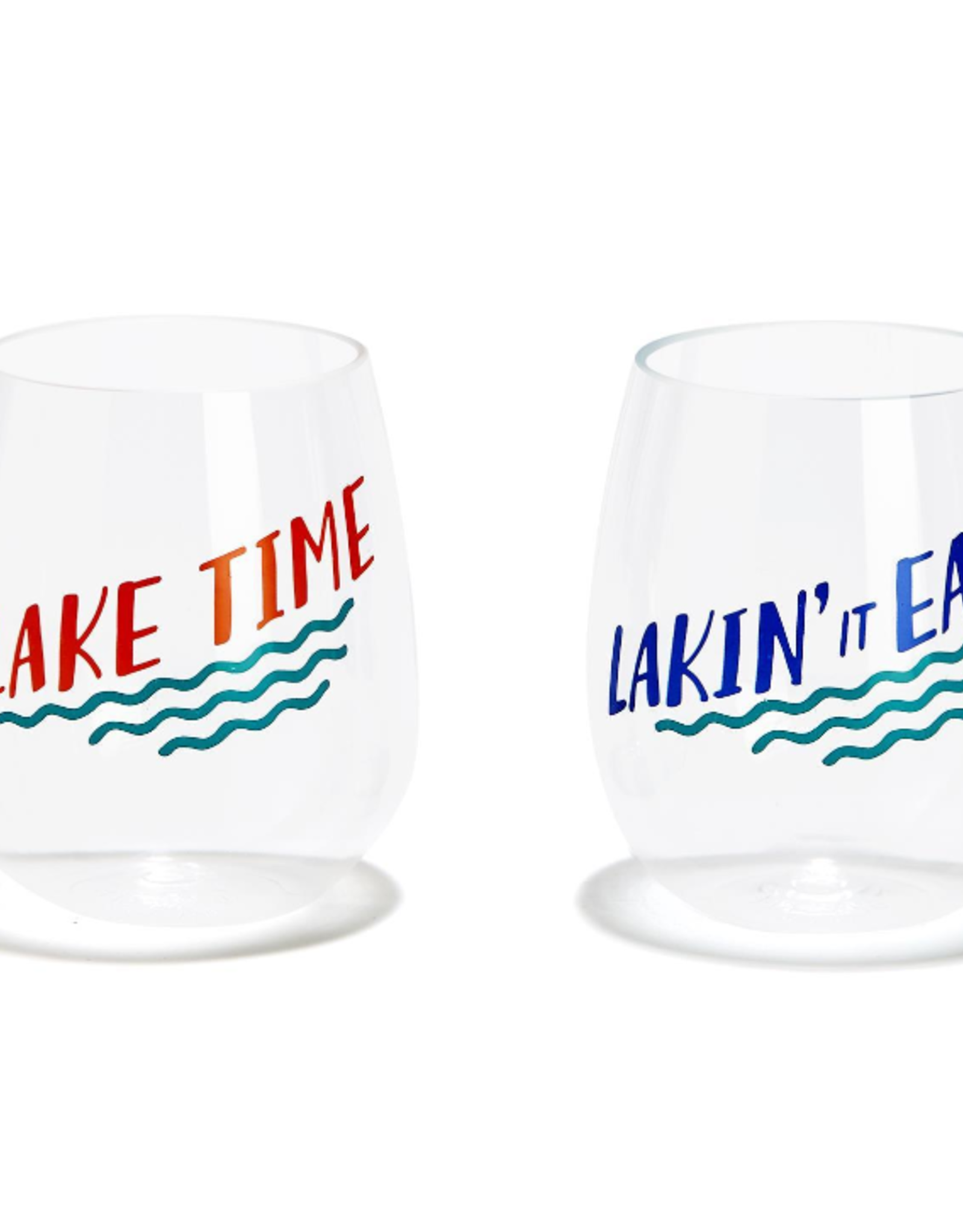 Two's Company Acrylic Stemless Glasses - Lake Life