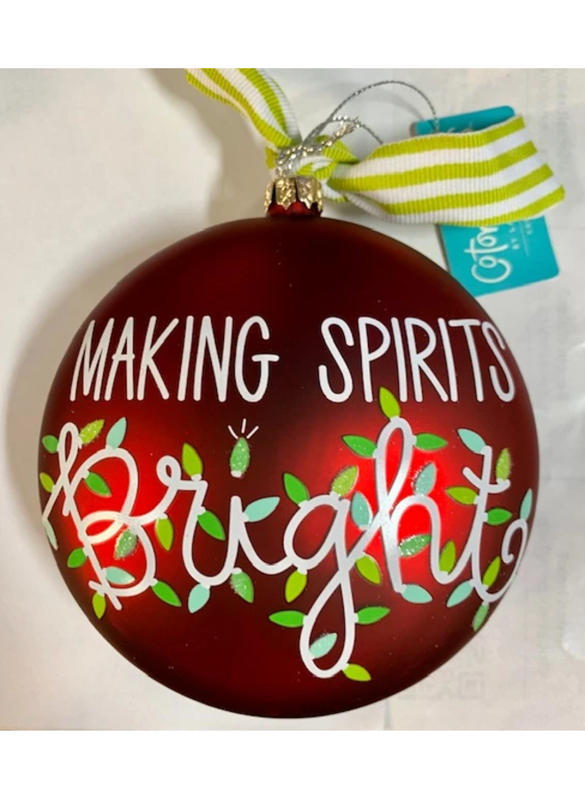 Making Spirits Bright Glass Ornament