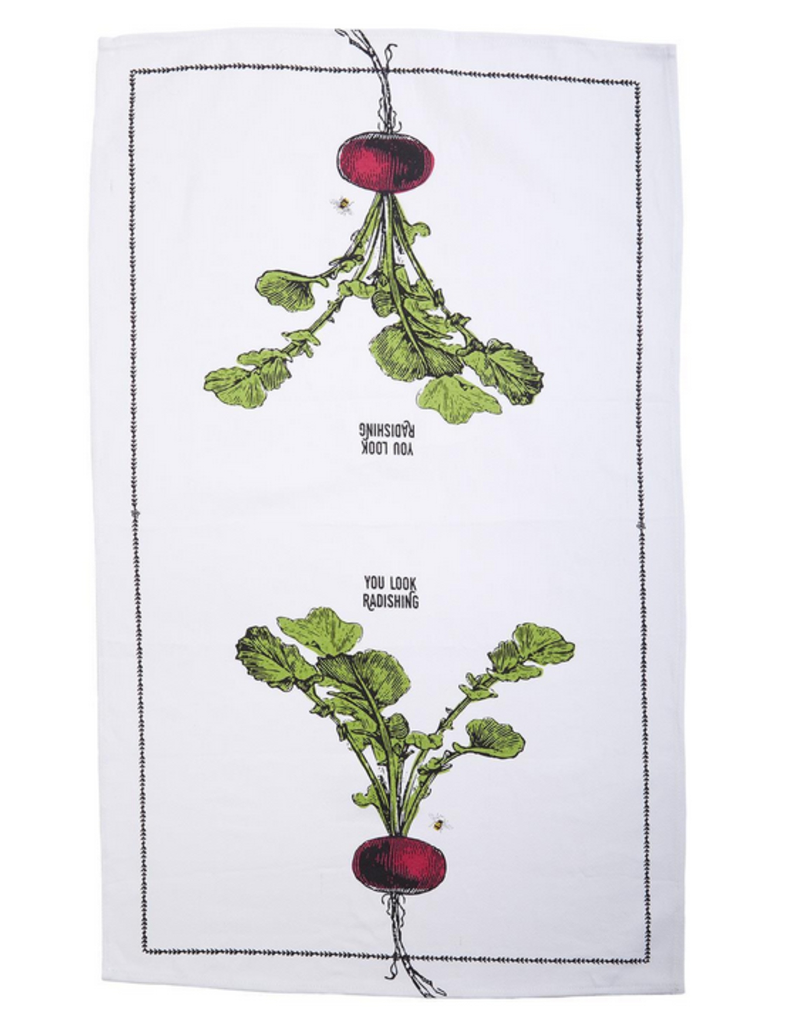 Two's Company Farm To Table Dishtowel and Fruit Crate Gift Set - Radishing