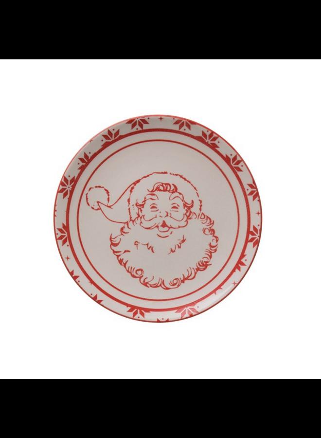 Red Santa Plate