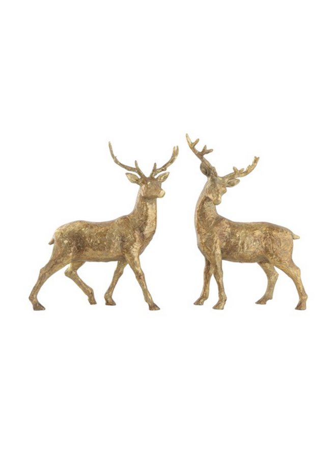 Gold Resin Standing Deer - assorted