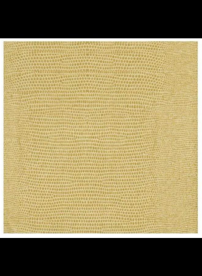 Cocktail Linen Napkin - Lizard Gold