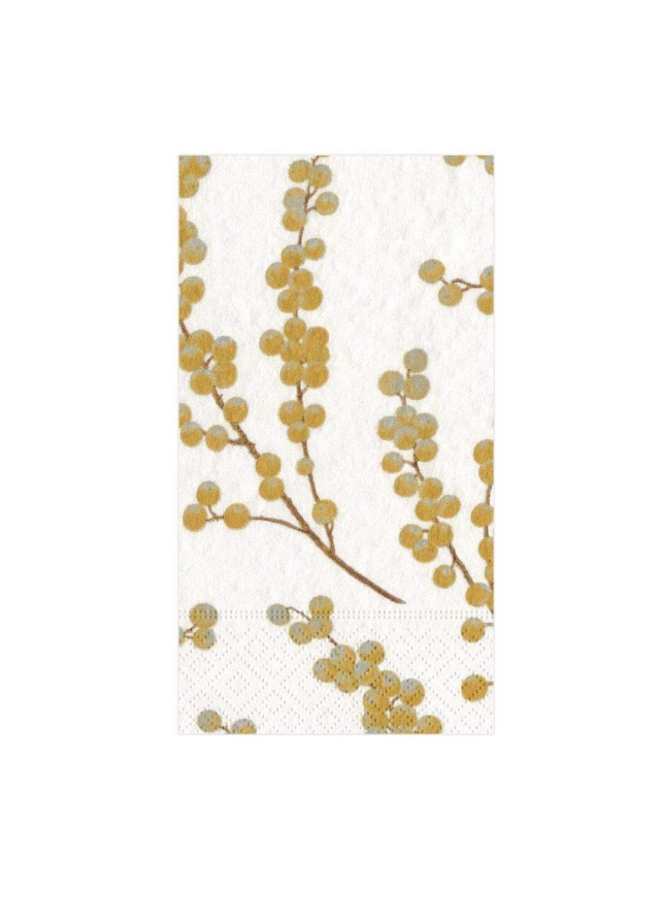 Guest Towel - Berry Branches White & Gold