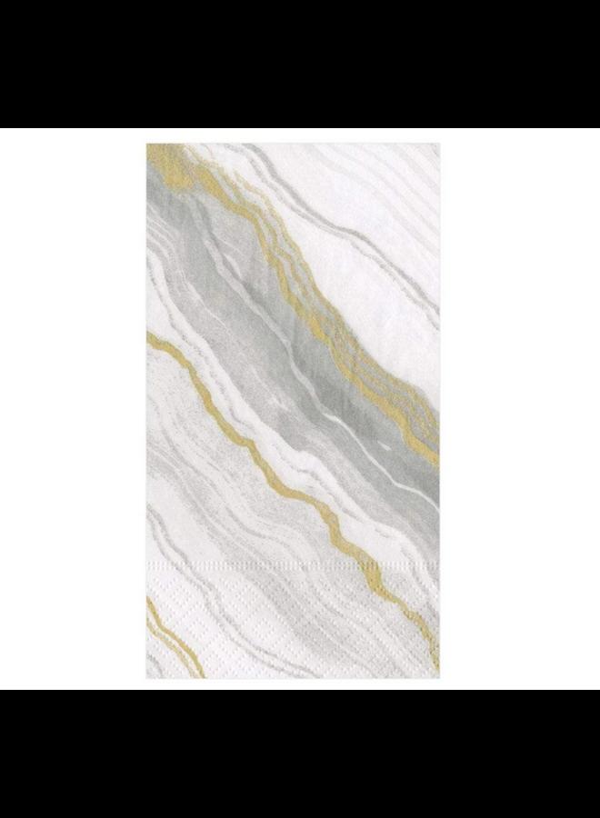 Guest Towel - Marble Grey
