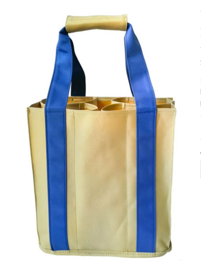 Party To Go Tote - Royal Blue & Tan