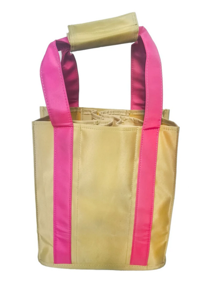 Party To Go Tote - Pink & Tan