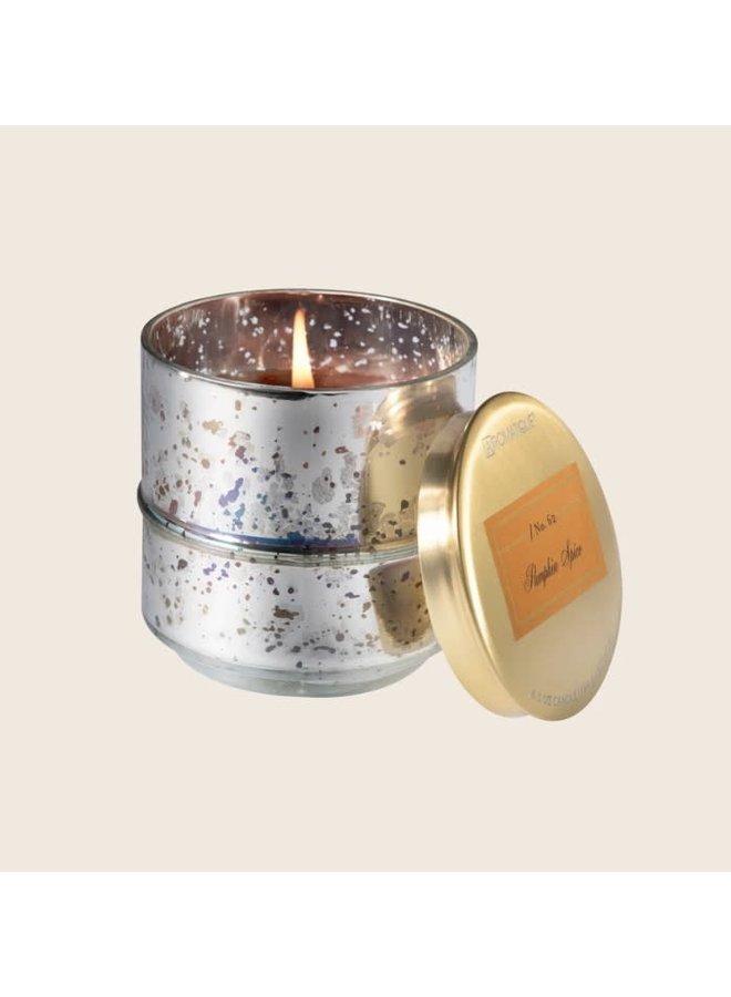 Pumpkin Spice - 6.5oz Metallic Glass Candle