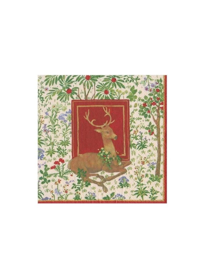 Cocktail Napkin - Stag Ivory