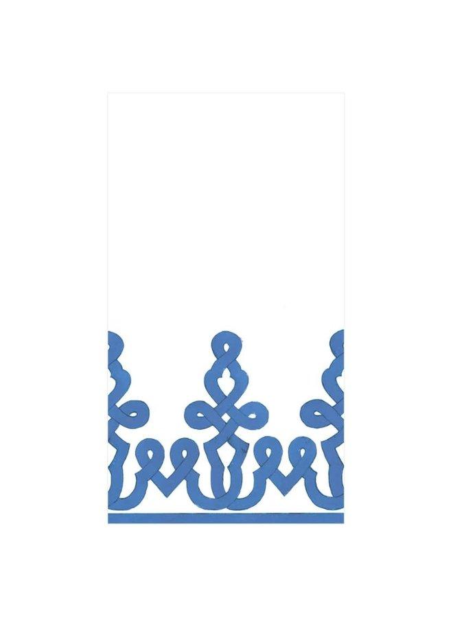 Guest Linen Towel - Dessin Passementerie Riviera Blue