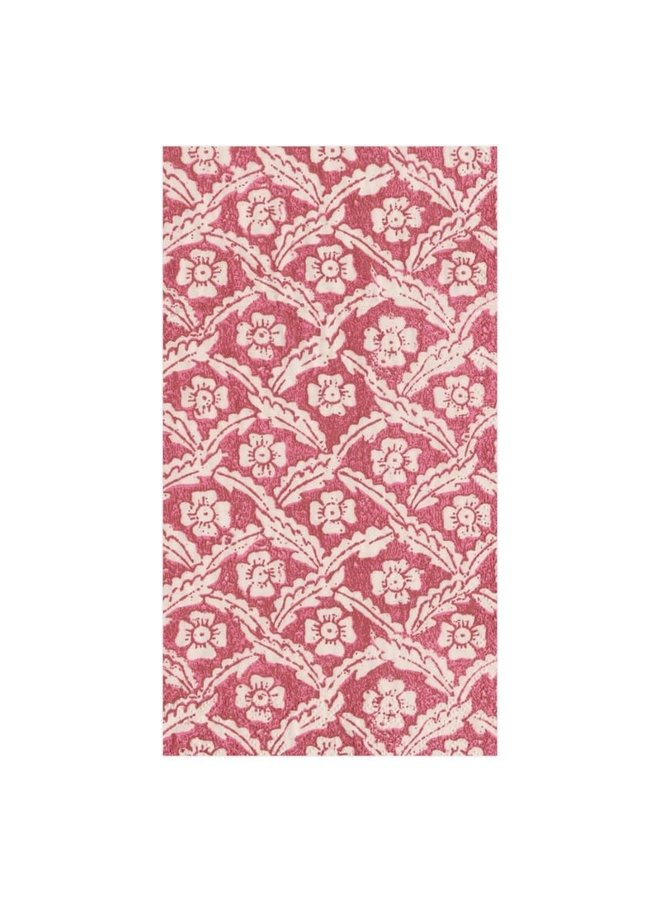 Guest Towel - Domino Floral Cross Red