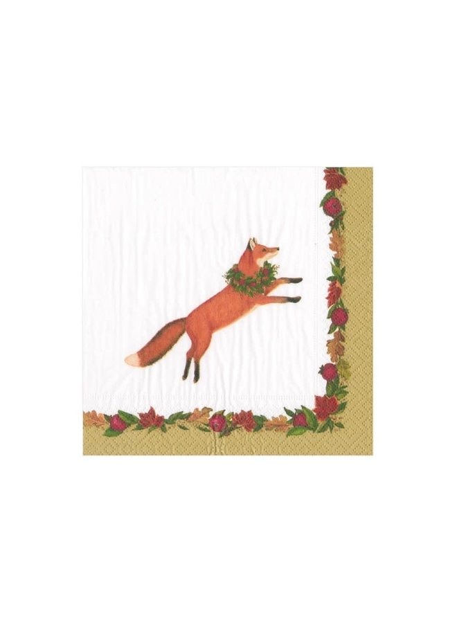 Cocktail Napkin - Leaping Fox
