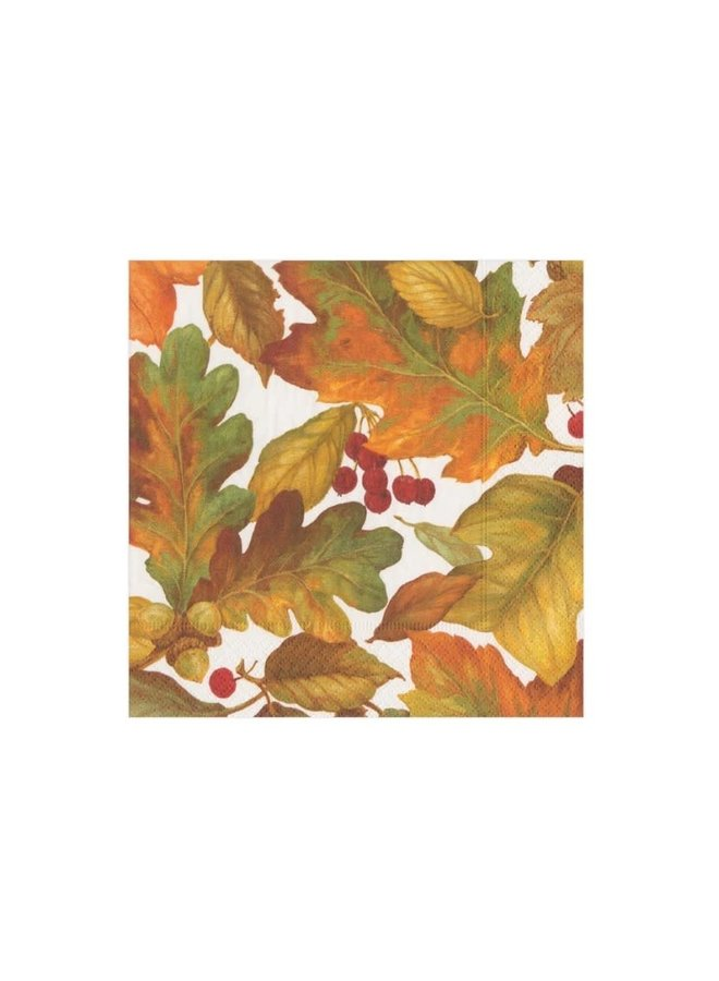 Cocktail Napkin - Autumn Leaves 2