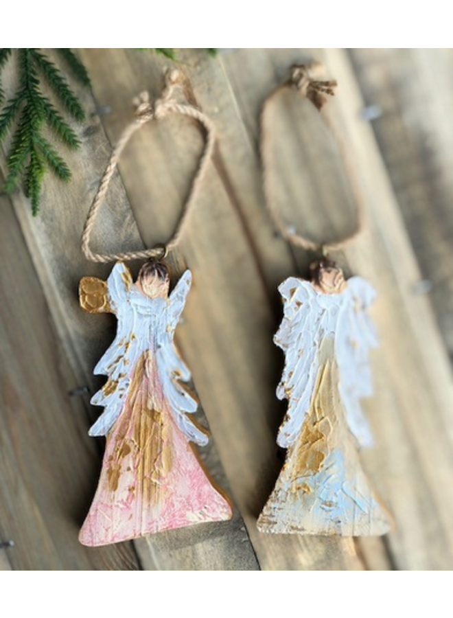 Angel Ornament - Pink