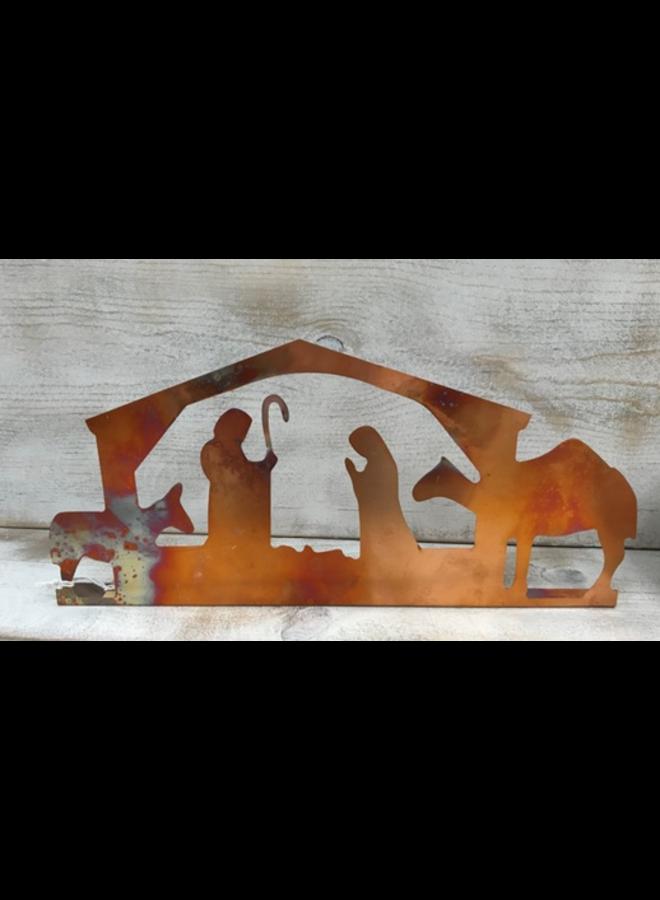 "Copper Nativity - 14.5"""