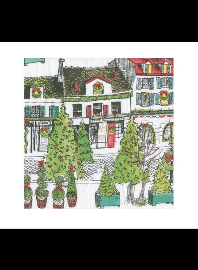 Cocktail Napkin - Vintage Village Christmas