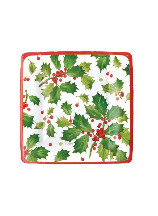 Salad Plate - Gilded Holly White