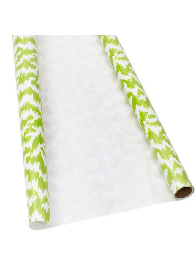 Wrapping Paper - Moire Green/White Pearl