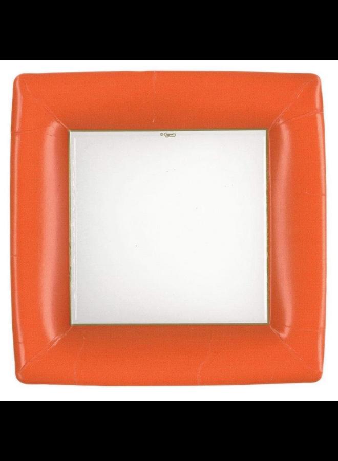 Dinner Plate - Deep Orange