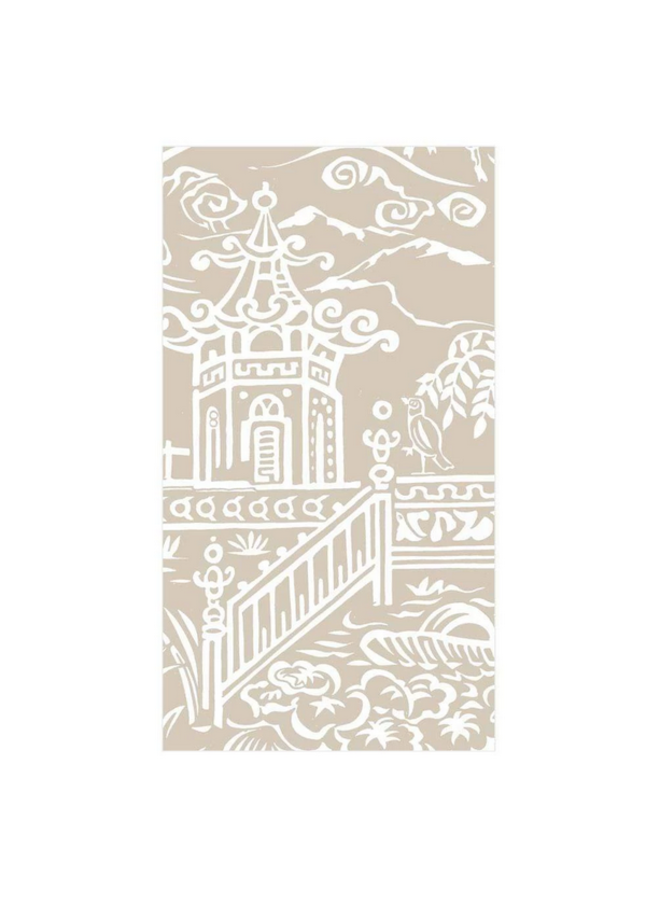 Guest Towel - Pagoda Toile Natural