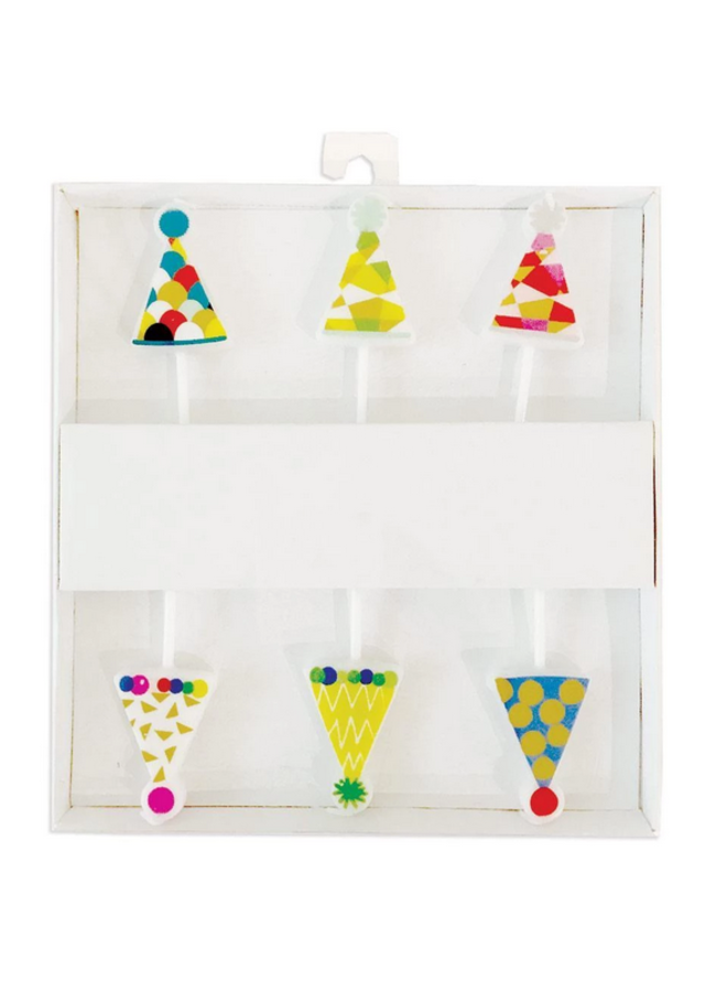 Party Hats Die-Cut Candles - 6