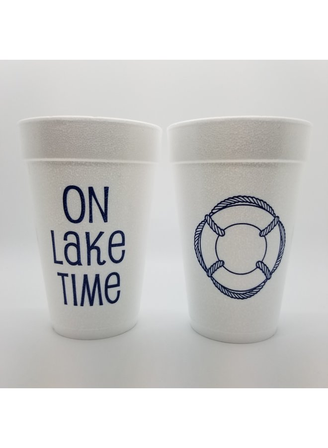 Foam Cups - On Lake Time