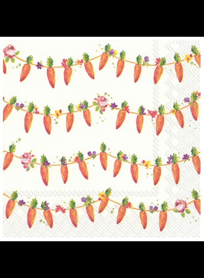 Cocktail Napkin - Carrots Garland