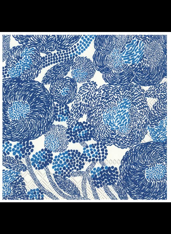 Cocktail Napkin - Marimekko Mynsteri Cream/Blue